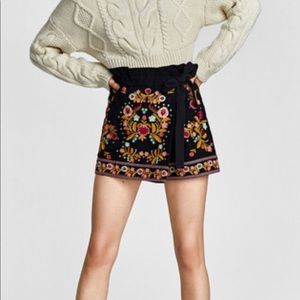 Zara Embroidered Skort